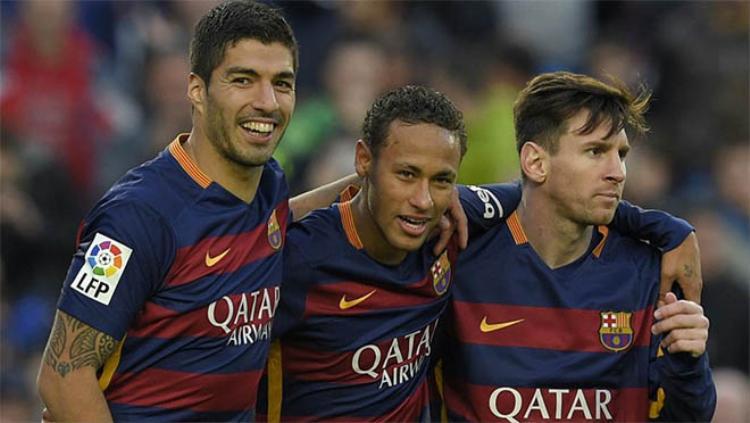 Bức ảnh này vô tình xác nhận chẳng phải lúc nào Messi cũng cùng vui với Neymar.