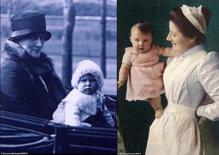 Clara Knight, nhũ mẫu của Hoàng gia, người chăm sóc Nữ hoàng từ khi bà lọt lòng.