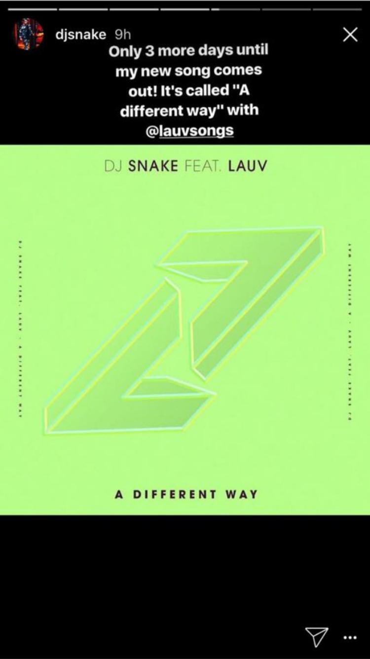"""DJ Snake rất tích cực """"quảng cáo"""" cho ca khúc sắp ra mắt của mình."""
