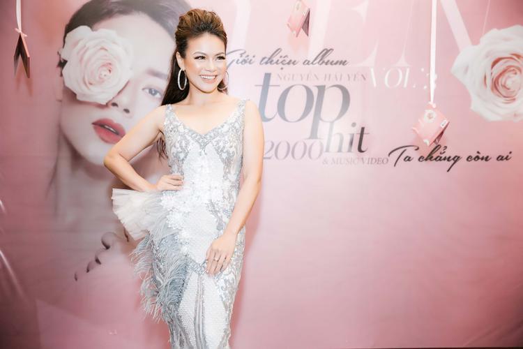 Nguyễn Hải Yến trong buổi ra mắt album và MV mới.