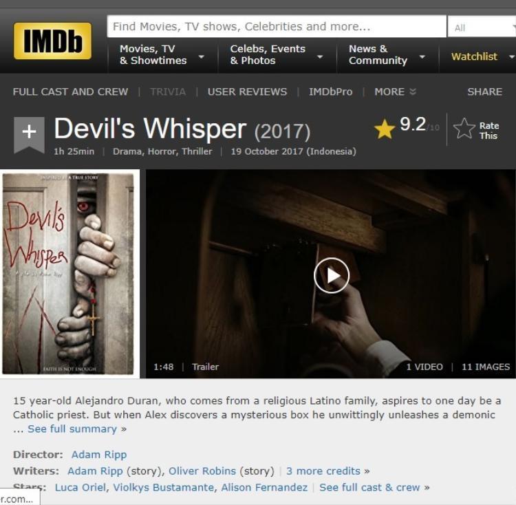 Nghẹt thở với Lời thì thầm của quỷ  Phim kinh dị đạt 9,2 điểm IMDb