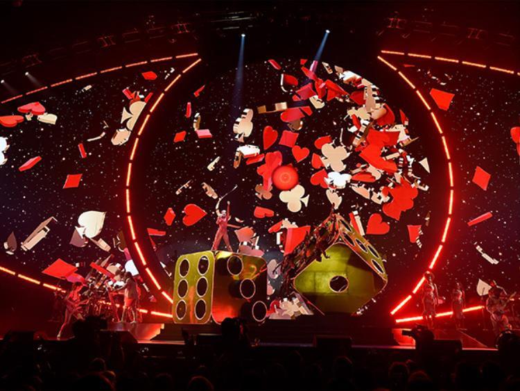 Visual đầy sáng tạo của màn trình diễn Roulette.