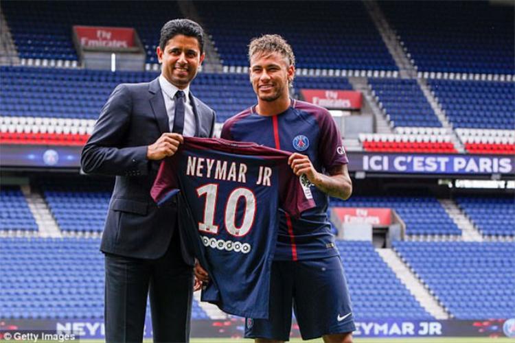 Kỷ lục thế giới về chuyển nhượng hiện do PSG và Neymar giữ chỉ bằng một nửa đề nghị mua Messi của Man City.