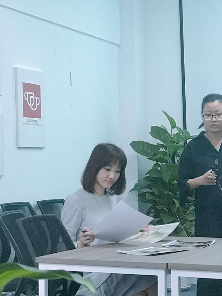 Hari Won xinh đẹp tỏa sáng trong buổi casting phim Thiên ý.
