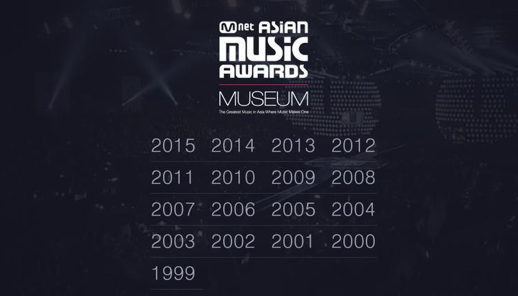 và tư liệu về MAMA các năm trước cũng xuất hiện để các fan có thêm sự lựa chọn khi truy cập trang web này.