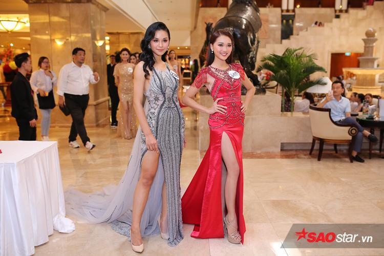 Hoàng Thùy, Mâu Thủy khoe trọn đường cong nóng bỏng, lấn át dàn thí sinh HHHV Việt Nam 2017