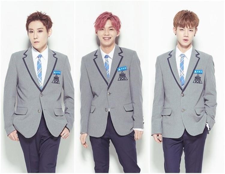 3 chàng trai khá ấn tượng tại Produce 101 mùa 2: Park Woo Dam, Woo Jin Young và Jo Yong Geun (từ trái sang).