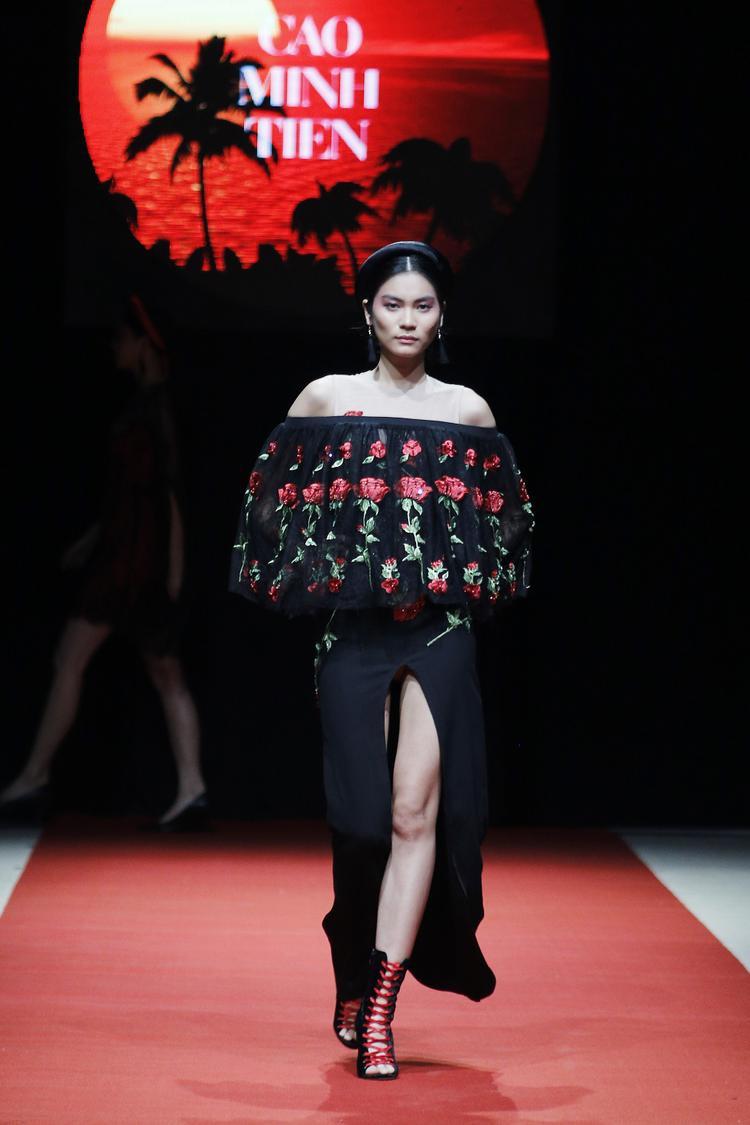 Quán quân Next Top Model được tin tưởng giao vị trí vedette hai bộ sưu tập của nhà thiết kế Cao Minh Tiến và Cao Huy.