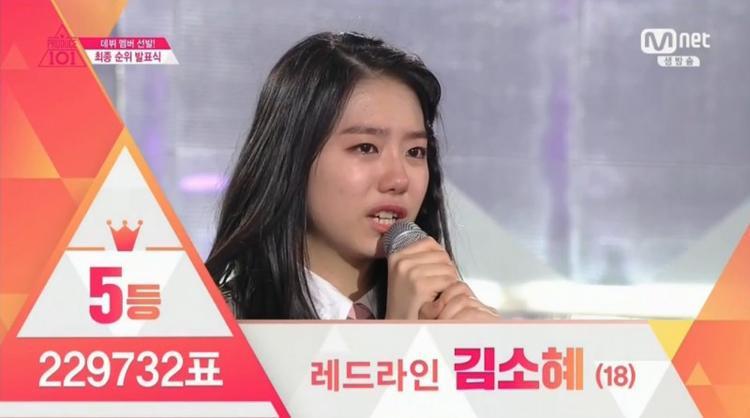 Sohye dành vị trí cao tại chung kết trong sự ngỡ ngàng của khán giả.
