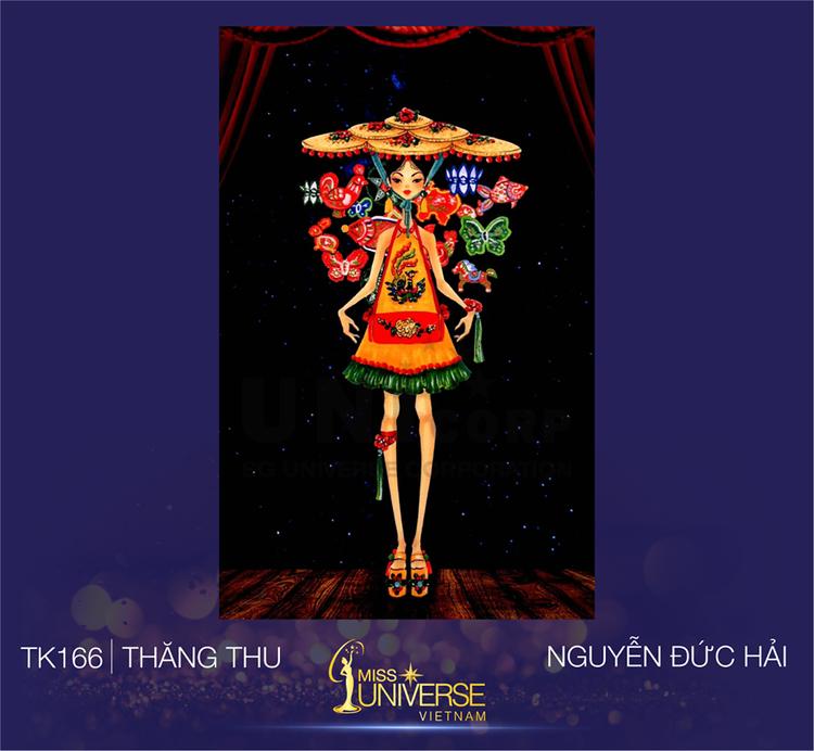 """Bộ trang phục """"Trăng thu"""" lấy ý tưởng từ ngày Tết Trung thu của Nguyễn Đức Hải."""