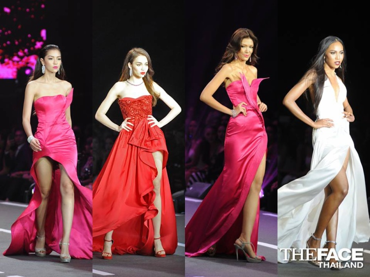 Grace váy trắng nổi bật hơn hẳn ba mỹ nữ váy hồng, váy đỏ còn lại.