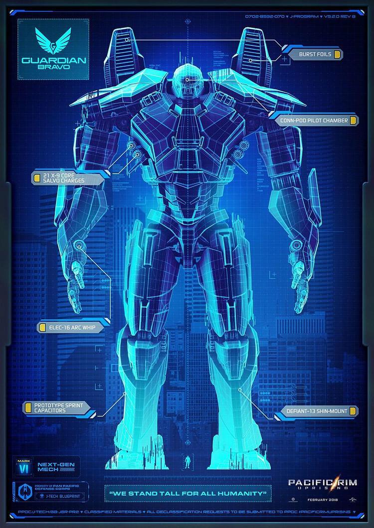 """Guardian Bravo: """"Được thiết kế để chiến đấu ở tầm xa, Guardian Bravo sử dụng chiếc Elec-16 Arc Whip: vũ khí kim loại với chuỗi dây xích, mang đến kỹ năng chiến đấu tinh tế trong việc điều khiển tay xích""""."""