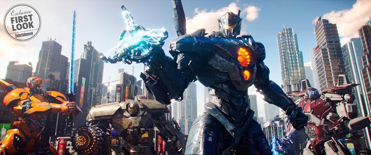Các robot khổng lồ Jaeger: Saber Athena, Bracer Phoenix, Gipsy Avenger và Guardian Bravo.