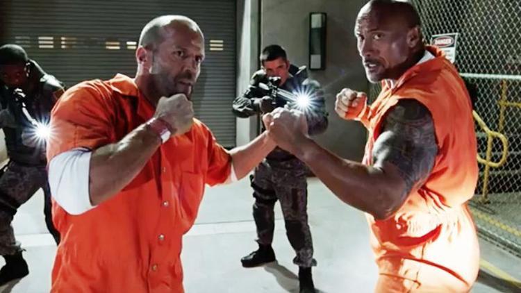 The Rock và Jason Statham.