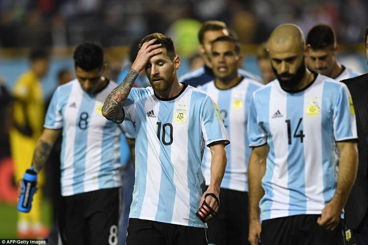 Argentina bị bật khỏi nhóm 5 đội có thể tới Nga 2018.