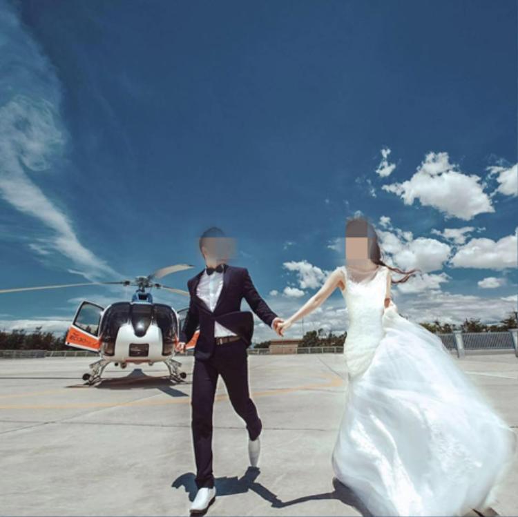 Cô dâu, chú rể trong đám cưới 11 tỷ ở Quảng Nam.