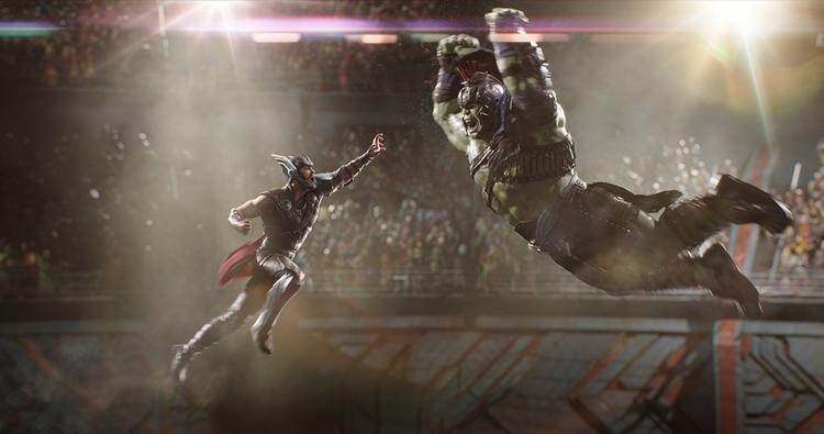 Trận chiến thực sự của Thor và Hulk trong trailer.