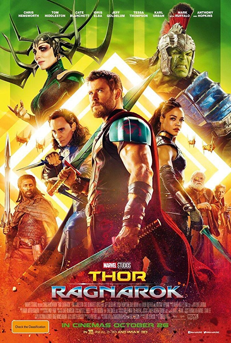 Poster chính thức của Thor: Ragnarok.