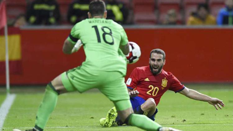 Tây Ban Nha vẫn cần 3 điểm để đảm bảo suất hạt giống ở World Cup 2018.