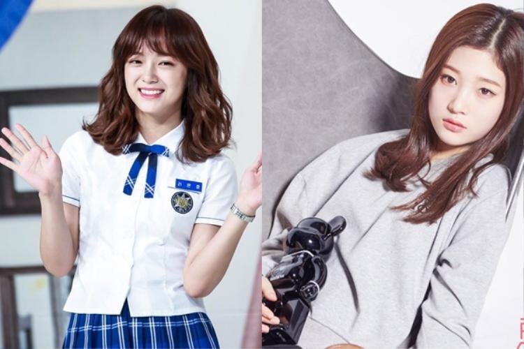 2 cô gái xinh đẹp đang gây bão giới idol nữ.