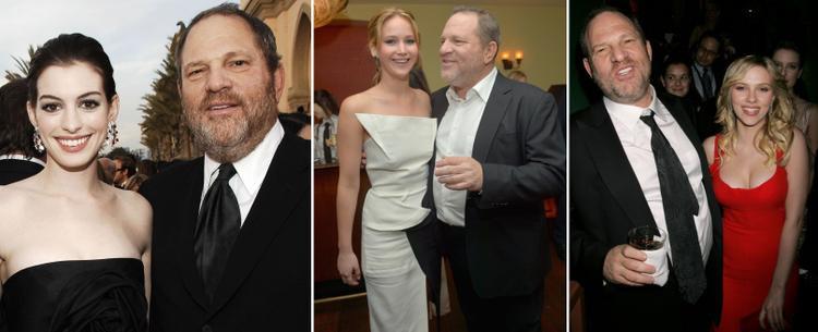 Harvey bên các mỹ nhân Hollywood lừng danh.