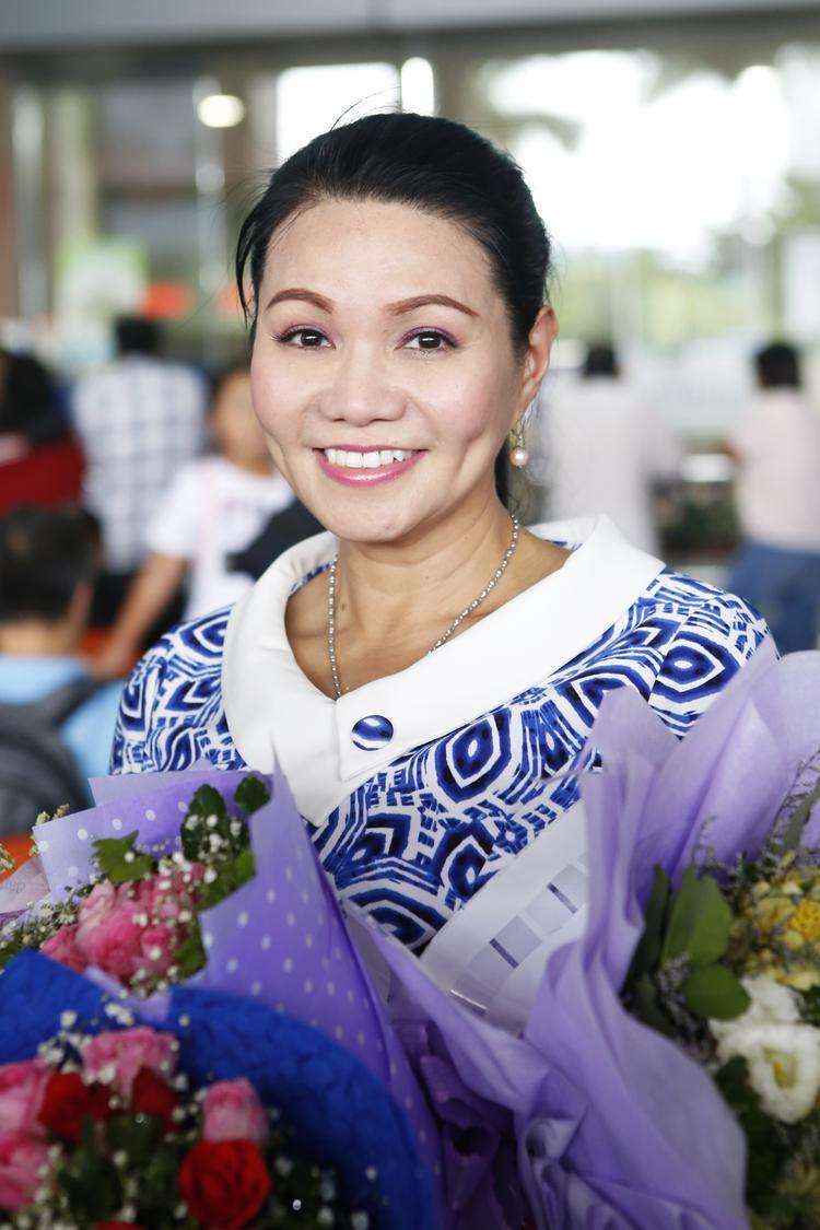 Nghệ sĩ Ngọc Huyền tươi trẻ ở tuổi U50.