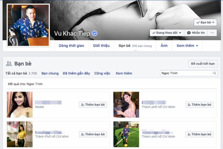 Mâu thuẫn xảy ra, Ngọc Trinh hủy kết bạn Facebook với Vũ Khắc Tiệp gần 1 tháng
