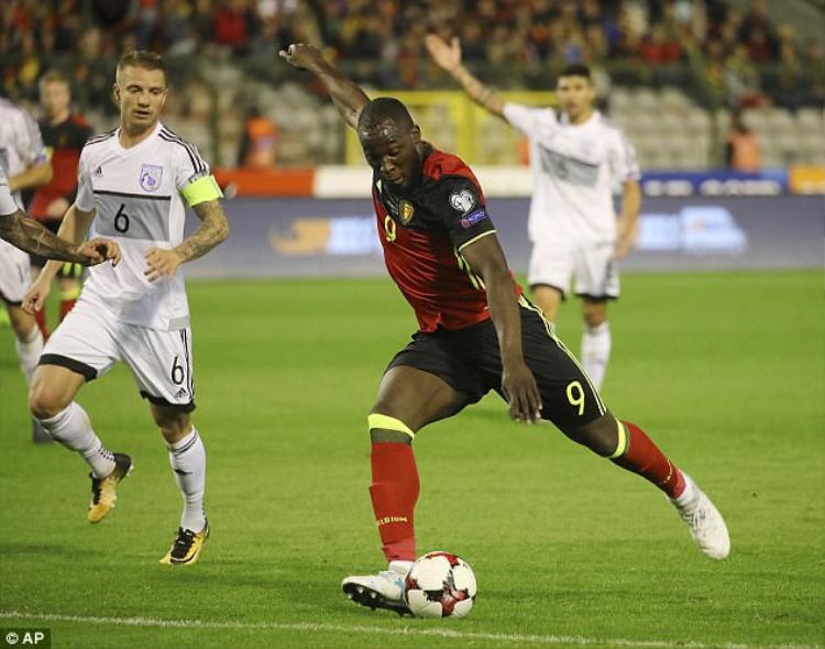 Lukaku trong trận thắng Síp.
