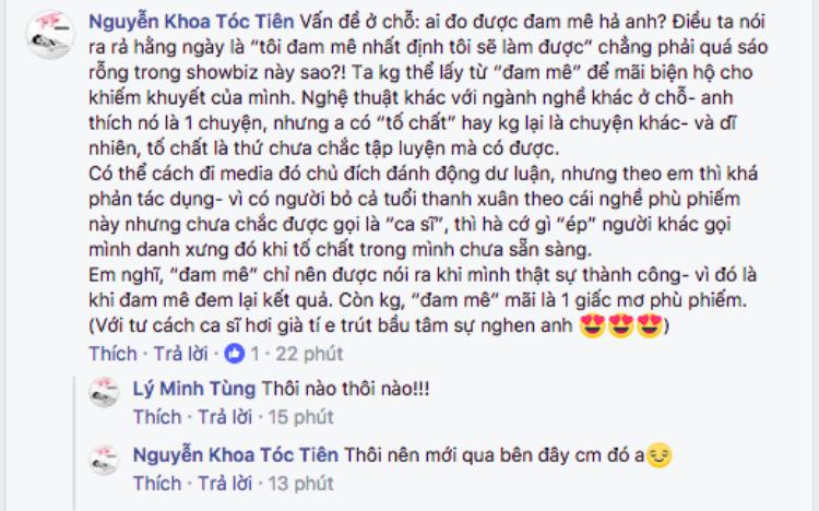 Chia sẻ thẳng thắn của Tóc Tiên về câu chuyện đam mê của Chi Pu.