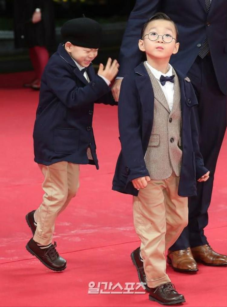 """Song Il Kook và các con thực sự """"chiếm spotlight"""" áp đảo trên thảm đỏ."""