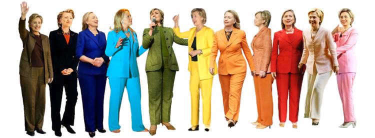 Trang phục mà bà Hillary lựa chọn trong quá trình tranh cử đã thổi một làn gió mới vào làng thời trang thế giới. Những bộ cánh color block của nhà mốt Ralph Lauren do bà khởi xướng đã khuấy động làng thời trang một thời gian dài.