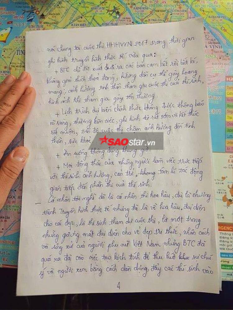 HOT: Mai Ngô tiết lộ lý do bỏ thi Hoa hậu Hoàn vũ Việt Nam 2017 trong bức thư gửi Bộ VH-TTDL