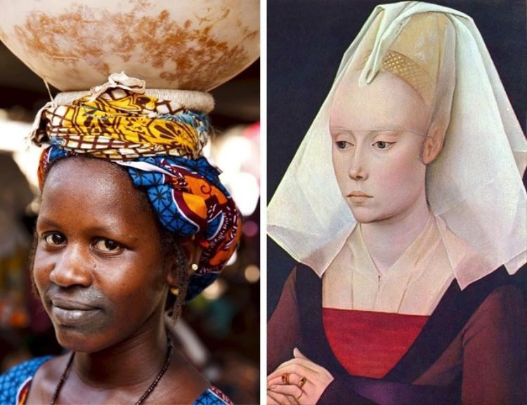 Trán cao là nét đẹp của phụ nữ bộ lạc Fula, châu Phi. Vì lý do này, nhiều phụ nữ đã bỏ phần tóc từ phần trên đầu để có một vầng trán cao. Tư tưởng cái đẹp tương tự cũng tồn tại thời Trung cổ ở châu Phi, khi phụ nữ thường bỏ nửa tóc phía trên đỉnh đầu.