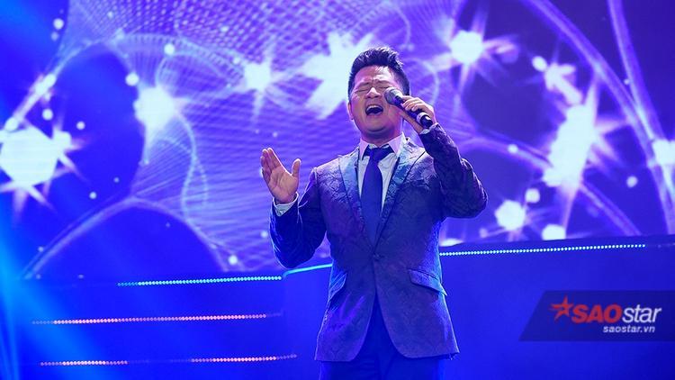 Bằng Kiều khiếnkhán giả thủ đô vô cùng thích thú với màn giả giọng Lam Trường và Phương Thanh.
