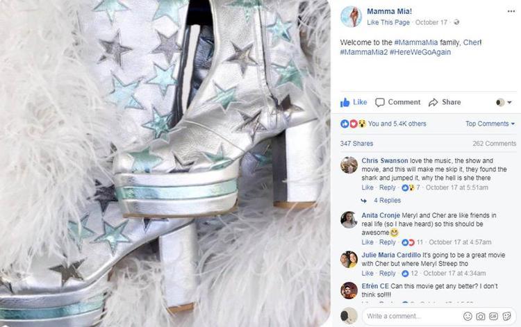Facebook Mamma Mia! đã mang tới câu trả lời không thể vừa lòng người hâm mộ hơn.