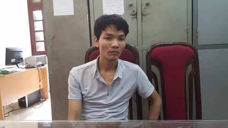 Đối tượng Nguyễn Thế Hảo tại cơ quan công an.