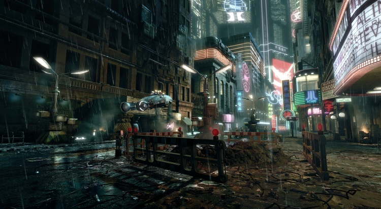 Màu sắc ảm đạm và u tối đặc trưng của Blade Runner.