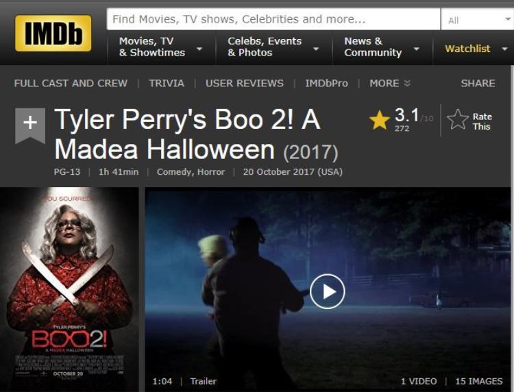 3,1 điểm IMDb.
