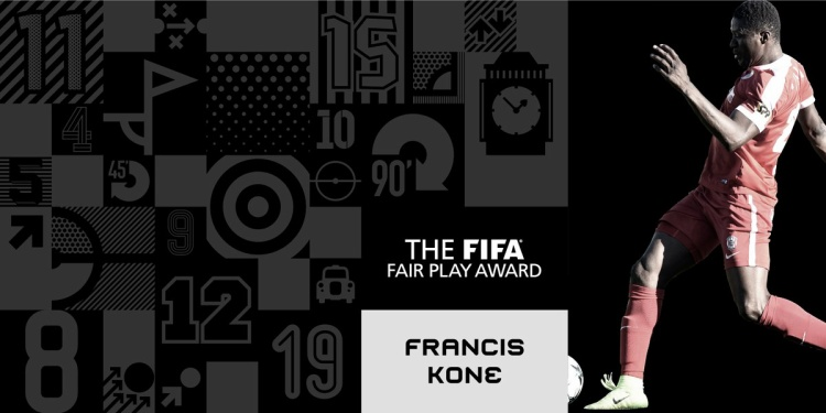 Francis Kone của Togo được trao giải Fair-play nhất