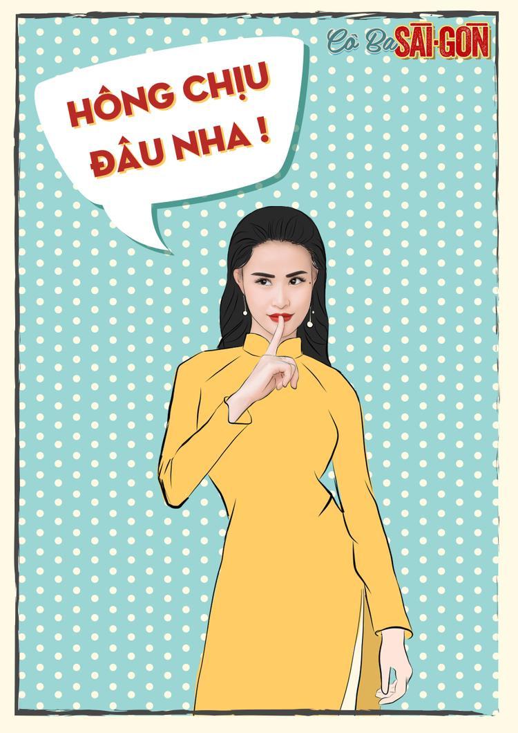 Đảm nhận phần nhạc phim Cô Ba Sài Gòn, Đông Nhi cũng xuất hiện trên bộ ảnh Pop-art