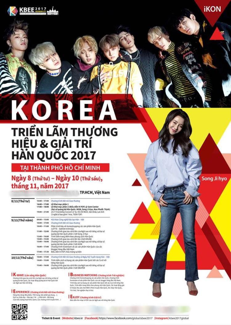Song Ji Hyo có mặt trên poster chính thức của sự kiện.