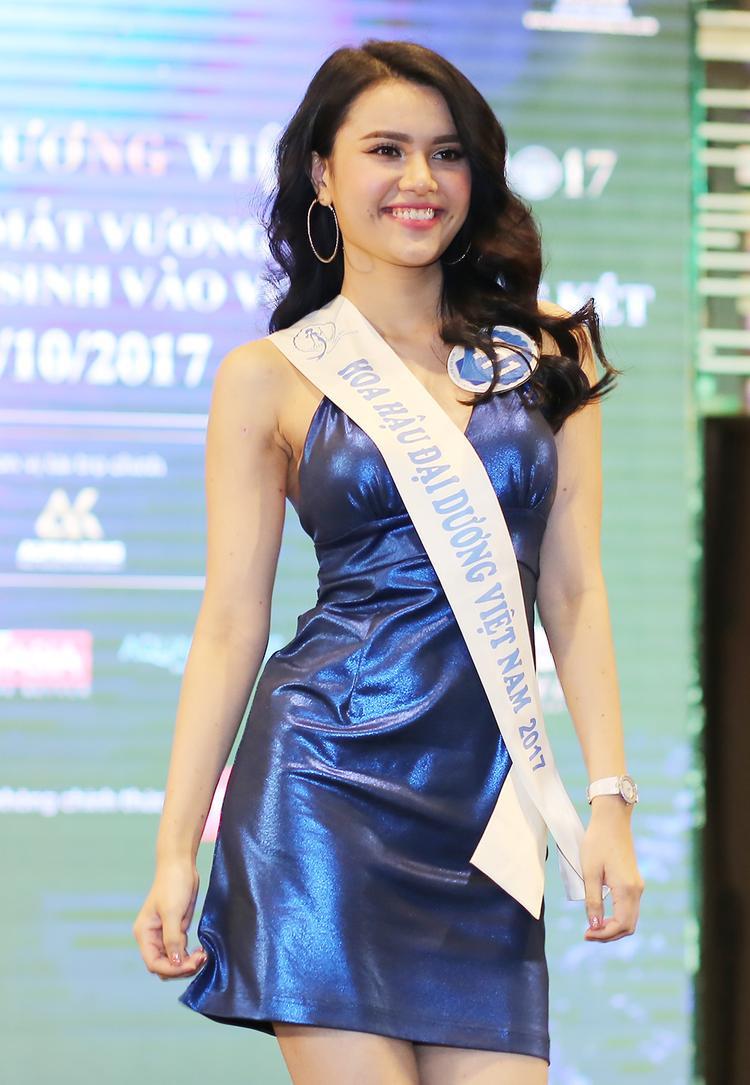 Ứng cử viên cho chiếc vương miện - người đẹp Diệu Thùy - em gái của hoa hậu Diệu Hân.
