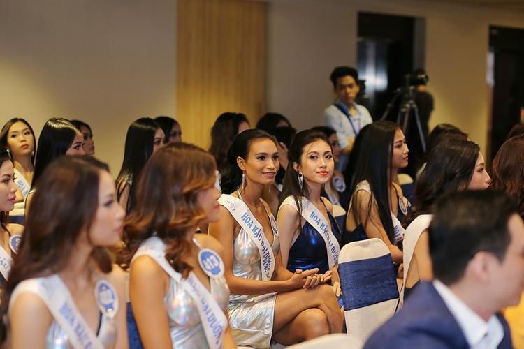 Một số thí sinh nổi bật trong buổi họp báo giới thiệu 33 thí sinh bước vào đêm chung kết Hoa hậu Đại dương Việt Nam 2017.