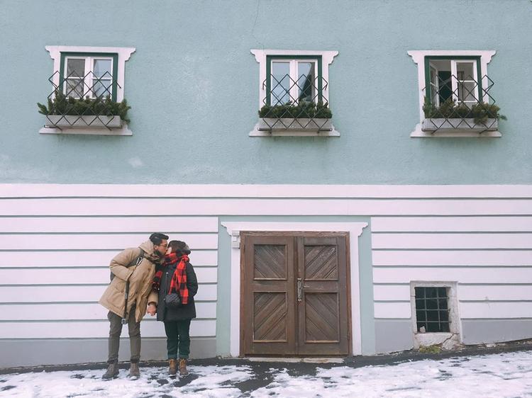 Cặp đôi hiện đang hạnh phúc du học tại nước Ý.