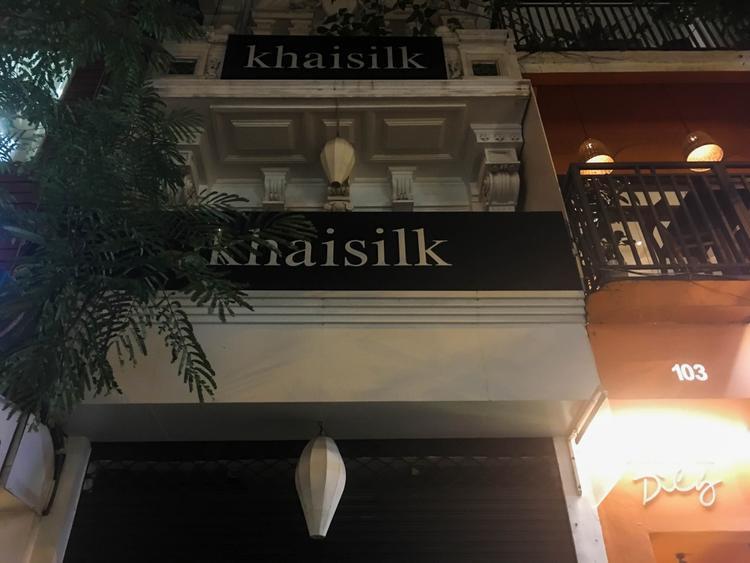 Cửa hàng Khaisilk ở địa chỉ số 101 Đồng Khởi, Q1. (TP.HCM).