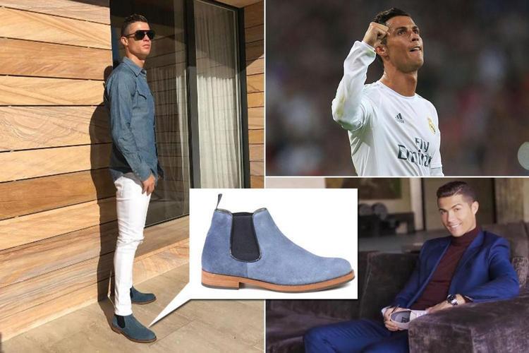Ronaldo còn có cả thương hiệu giày tây riêng.