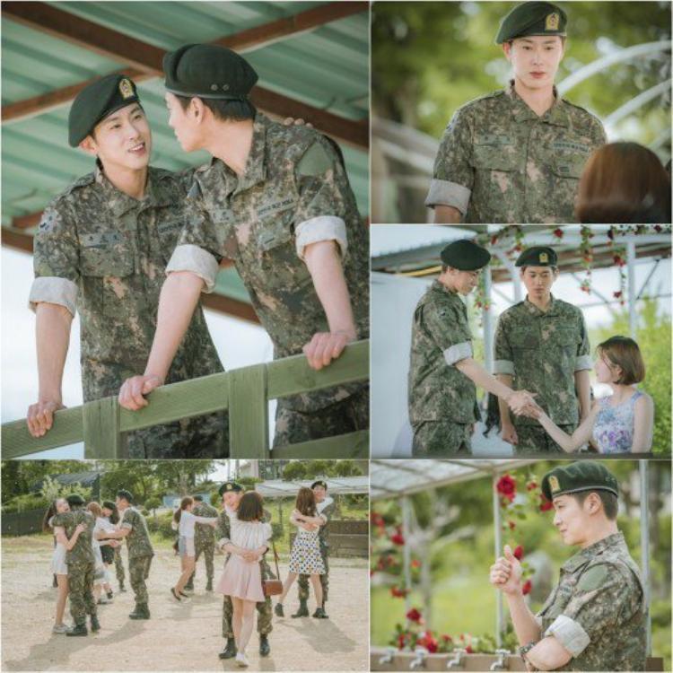 Người hâm mộ cực kỳ phấn khích trước tạo hình người lính quân sự trong bộ phim mới đầu tiên mà anh chàng tham gia sau 2 năm nhập ngũ.