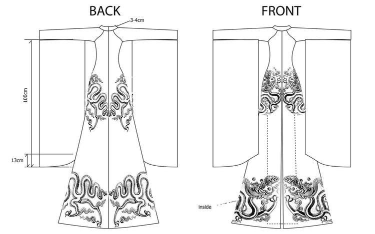 Bản thiết kế NTK Đỗ Vân Trí từng gửi cho gia đình Huyền My trước đó.