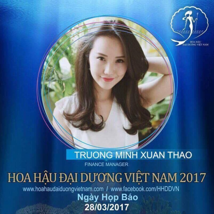 Cô từng là Quản lý tài chính cuộc thi HH Đại Dương Việt Nam 2017