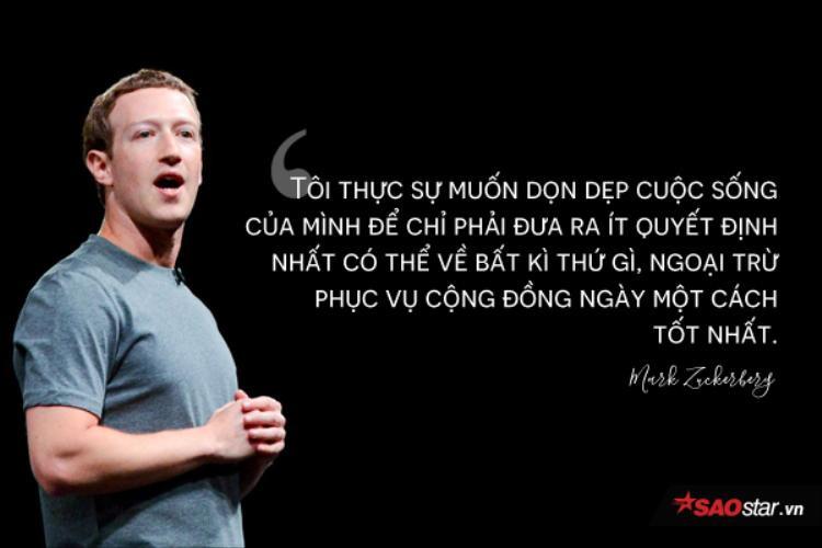 Mark Zuckerberg chia sẻ về gout ăn mặc của mình.